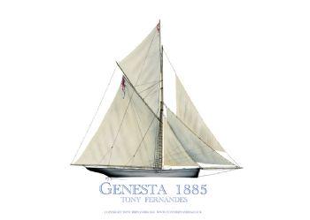 1885 Genesta - signed print